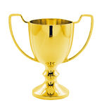 Gold Winners trophy isolated Stock Photos