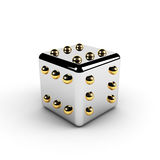 Gold winning dice Royalty Free Stock Image