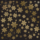Gold winter abstract background Stock Images