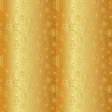 Gold winter snowflakes stripes winter pattern eps10 Royalty Free Stock Images