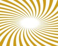 Gold wirbelte vektorhintergrund-Strahl Lizenzfreie Stockfotos