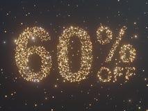 Gold wird von den Münzen verkauft Goldverkauf, Prozent Goldmünzen Abbildung 3D Lizenzfreie Stockfotos