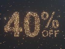 Gold wird von den Münzen verkauft Goldverkauf, Prozent Goldmünzen Abbildung 3D Stockbild