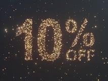 Gold wird von den Münzen verkauft Goldverkauf, Prozent Goldmünzen Abbildung 3D Lizenzfreie Stockfotografie