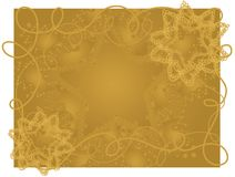 Gold Wire Grunge Stars Background Royalty Free Stock Photography
