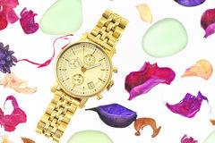 Gold woman watch Stock Photography