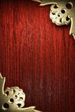 Gold on wood Royalty Free Stock Images