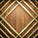Gold and wood background Stock Images