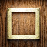 Gold and wood background Stock Photography