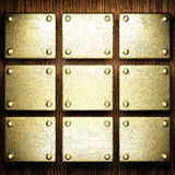 Gold and wood background Royalty Free Stock Photos