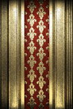 Gold on wood background Royalty Free Stock Photography