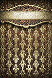 Gold on wood background Royalty Free Stock Photos