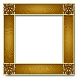 Gold & wood Frame Stock Image