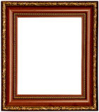 Gold and wood frame Royalty Free Stock Photo