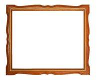 Gold and wood frame Stock Photos