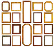 Gold and wood frame Royalty Free Stock Photos