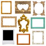 Gold and wood frame Stock Photography
