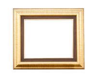 Gold wood frame Stock Photos
