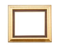 Gold wood frame Stock Photos