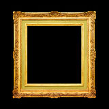 Gold wood frame Royalty Free Stock Image