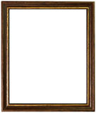 Gold and wooden antique frame Stock Photos