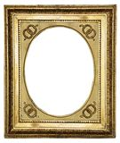 Gold wooden frame Royalty Free Stock Photo