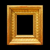 Gold wood frame stock photo