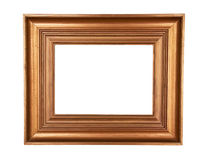 Gold wooden painting frame Stock Photography