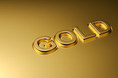 Gold word emboss Stock Photography