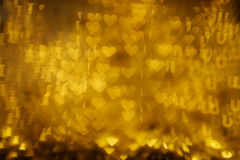 Gold words `I love you` bokeh background. Blinking gold words `I love u` bokeh background Stock Image