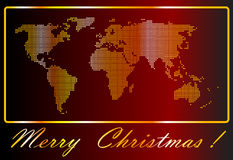 Gold world. Christmas card with gold world Royalty Free Stock Photo