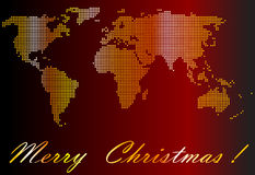 Gold world. Christmas card with gold world Stock Image