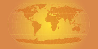 Gold world map Stock Photo