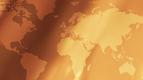 Gold world map and abstract background stock video footage