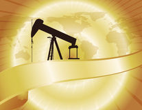 Gold World Oil Map Royalty Free Stock Images