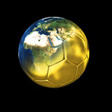 Gold world of soccer Stock Photo