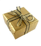 Gold Wrapped Gift Stock Photos