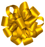 Gold Wrapped Ribbon. A Gold Wrapped Ribbon on white background Stock Photography