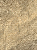 Gold wrapping paper with geometric hand drawn waves Royalty Free Stock Photography