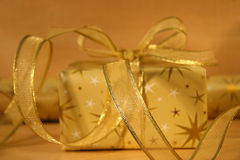 Gold wrappings Stock Image