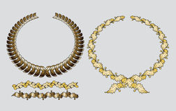 Gold wreath Stock Images