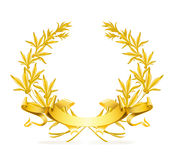 Gold wreath. Computer illustration, isolated on the white Stock Photography