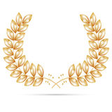 Gold wreath for the winner Royalty Free Stock Photos