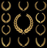 Gold Wreaths Royalty Free Stock Image