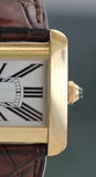 Gold wrist watch Royalty Free Stock Images