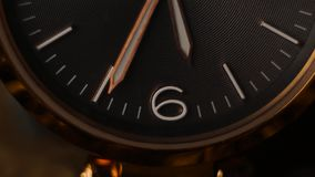 Gold wrist watch time lapse close up. Time is end. Gold wrist watch time lapse close up. Time is passing stock footage