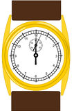 Gold wristwatch Royalty Free Stock Photography