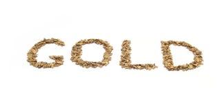 Gold written in Gold Stock Photos