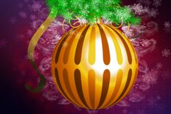 Gold xmas ball Royalty Free Stock Photo