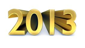Gold year 2013 Stock Photo